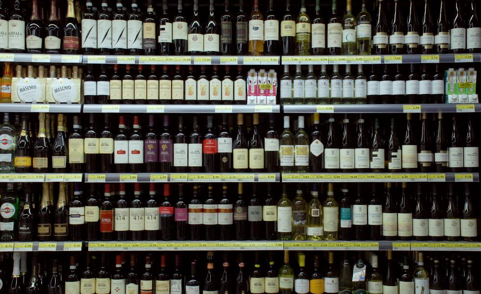 Supermercato Meta, reparto vini