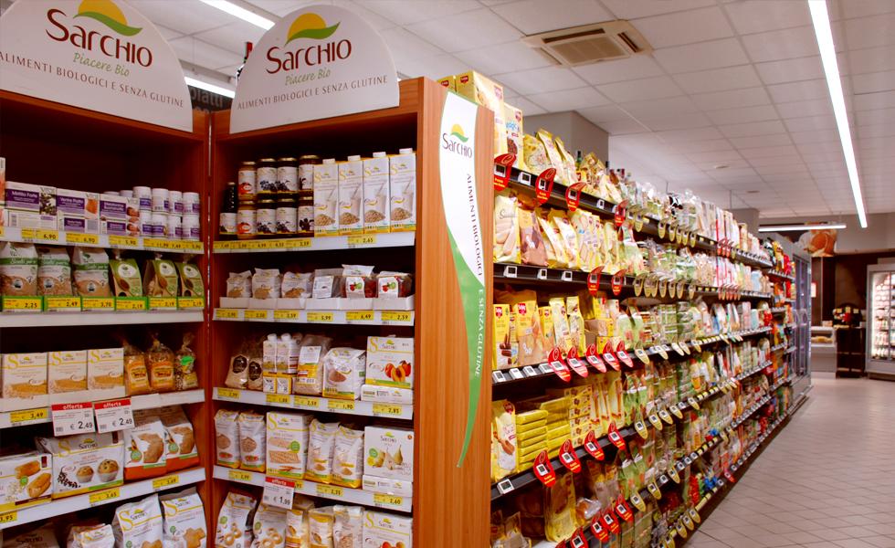 Supermercato Metà, reparto bio, vegan e gluten free