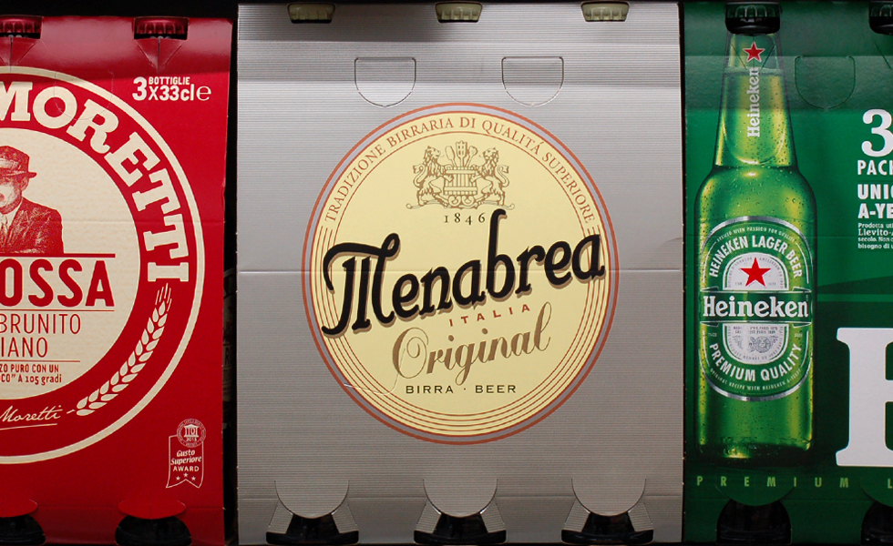Supermercato Metà, reparto birre