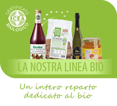 Supermercato Metà, alimenti biologici