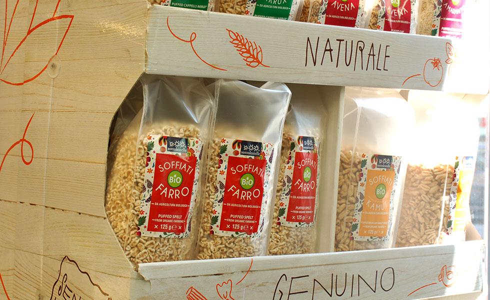Supermercato Meta, reparto prodotti bio, vegan e gluten free