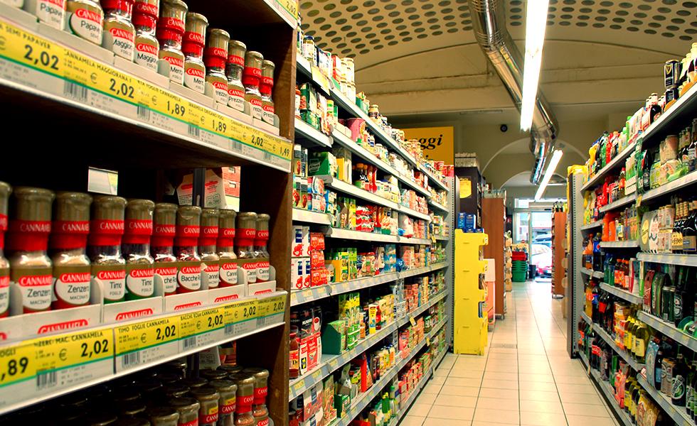 Supermercato Pam, grande distribuzione alimentare