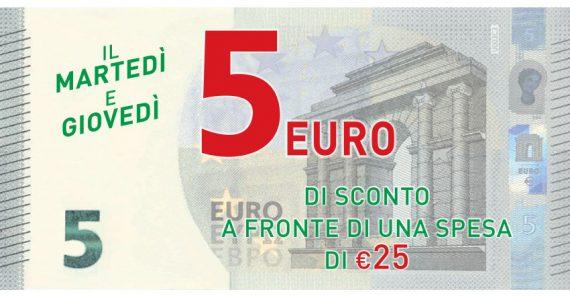 Da Pam e Metà ottieni un Buono Sconto spesa di 5 Euro a fronte di una spesa di 25 Euro
