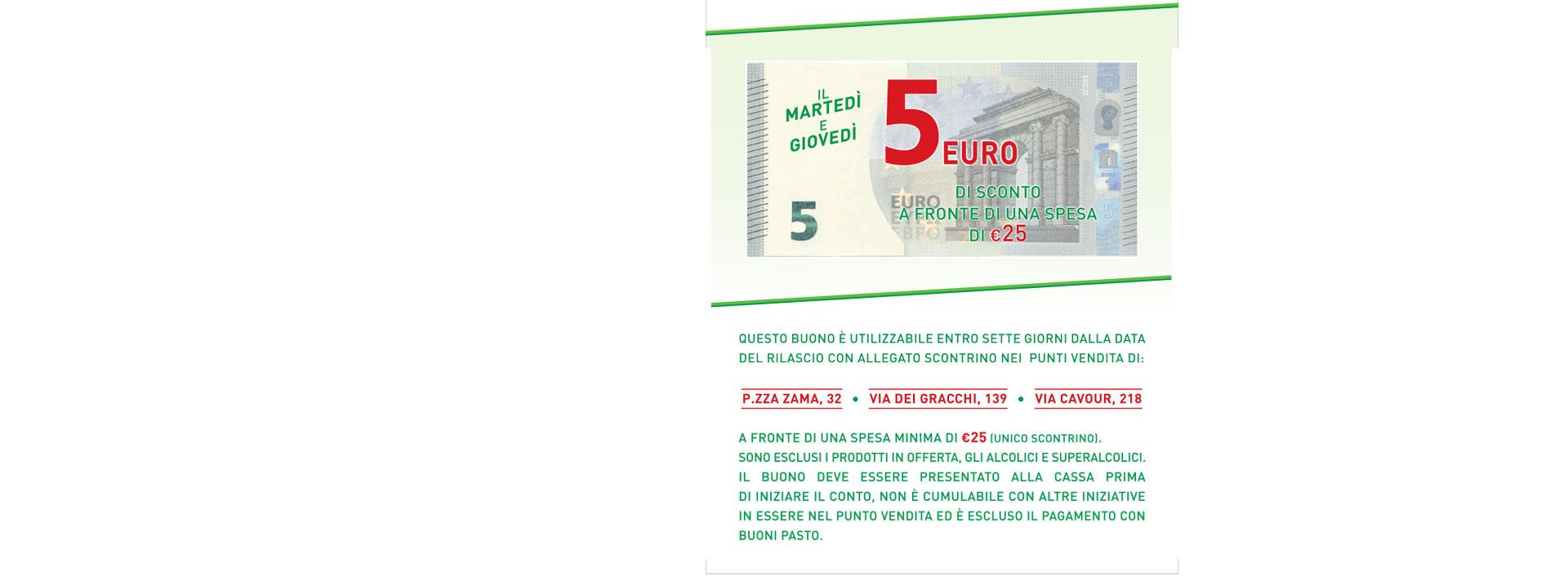 Buono Sconto di 5 Euro Pam e Metà
