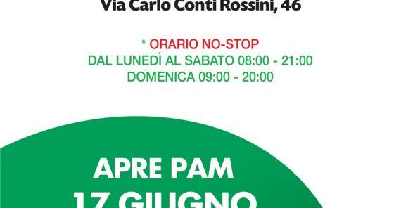 17 Giungo 2021 – Nuova apertura Supermercato PAM in via Carlo Conti Rossini 46
