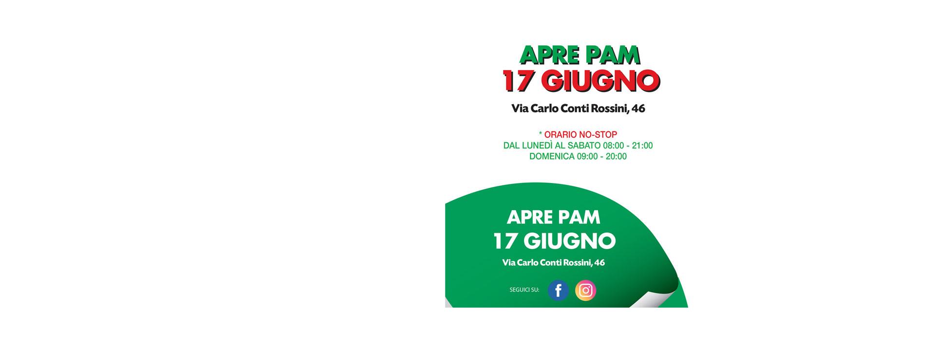 Nuova apertura Supermercato PAM in via Carlo Conti Rossini 46